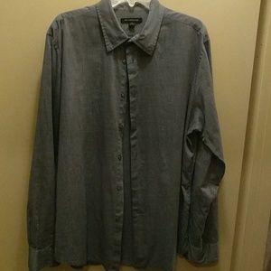 John Varvatos blue cotton shirt XL